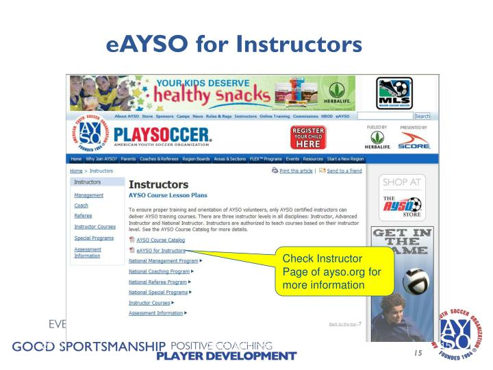 eAYSO for Instructors