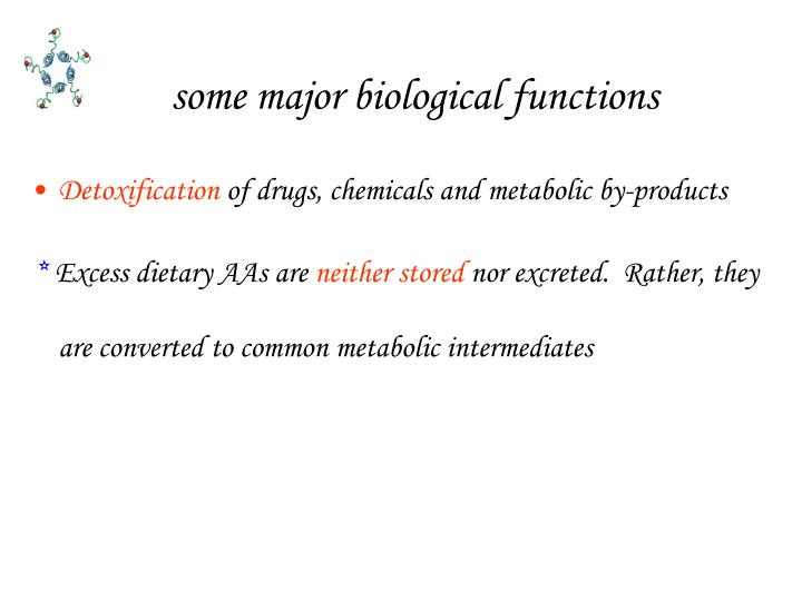 some major biological functions