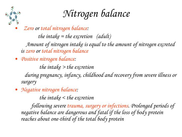 Nitrogen balance
