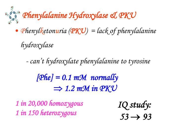 Phenylalanine Hydroxylase & PKU