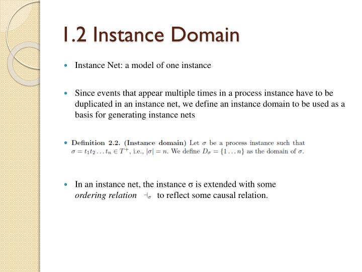 1.2 Instance Domain