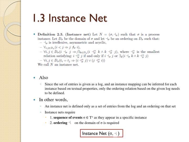 1.3 Instance Net