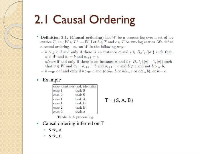 2.1 Causal Ordering