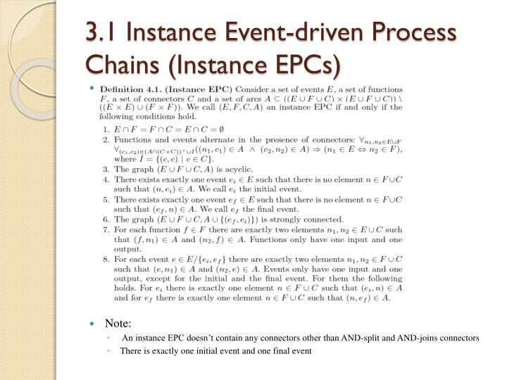 3.1 Instance Event-driven Process Chains (Instance EPCs)