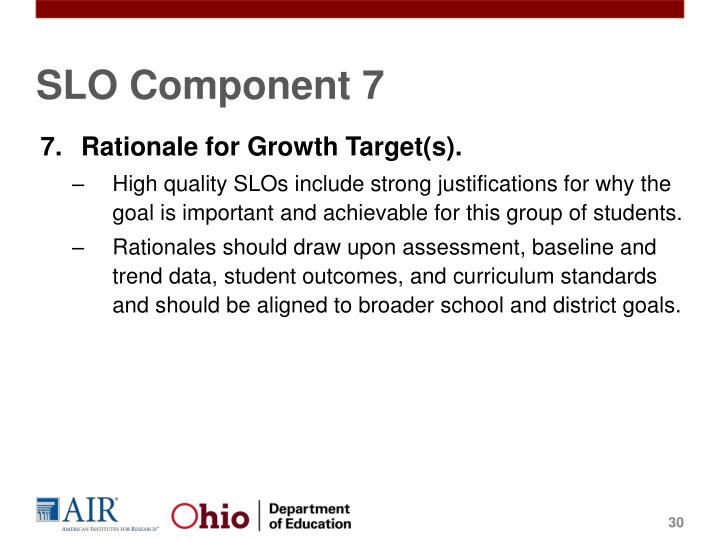 SLO Component 7