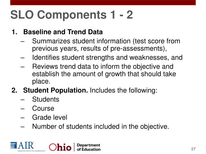 SLO Components 1 - 2