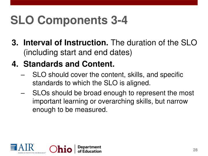 SLO Components 3-4