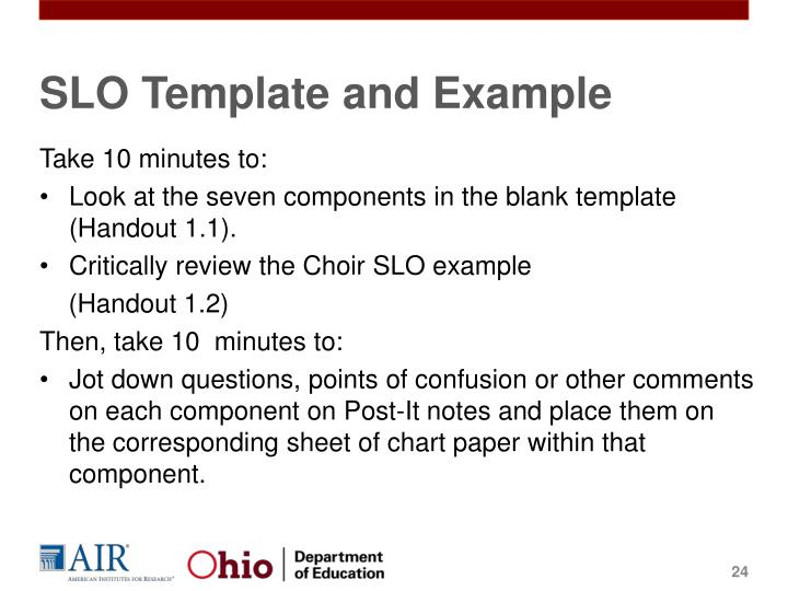 SLO Template and Example