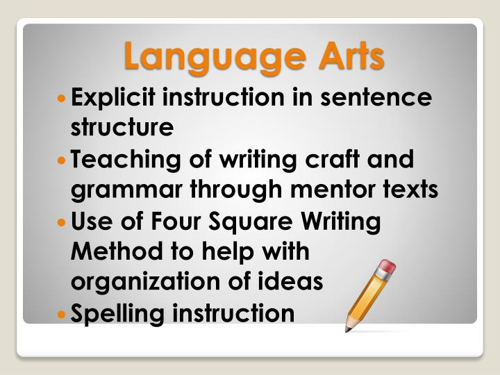 Explicit instruction in sentence structure