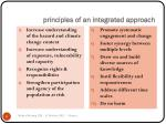 principles of an integrated approach
