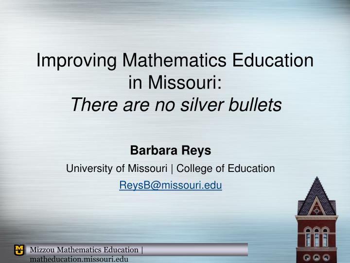 Improving Mathematics Education