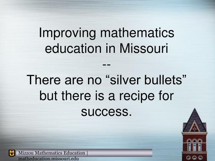 Improving mathematics education in Missouri