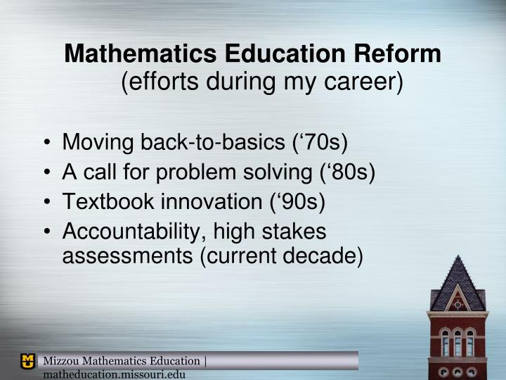 Mathematics Education Reform