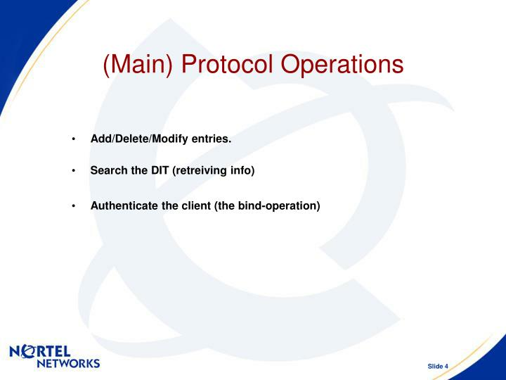 (Main) Protocol Operations