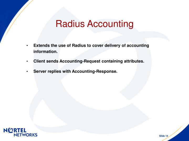 Radius Accounting