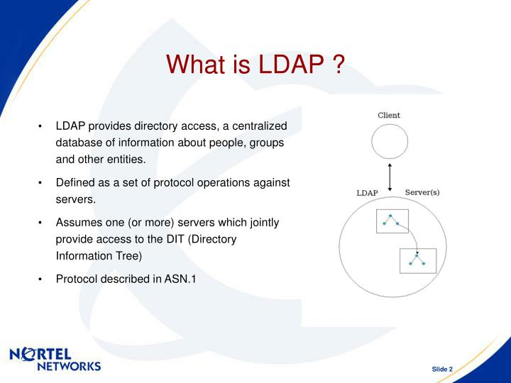 What is LDAP ?