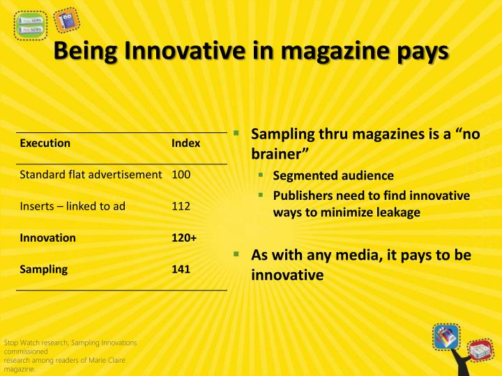 Being Innovative in magazine pays