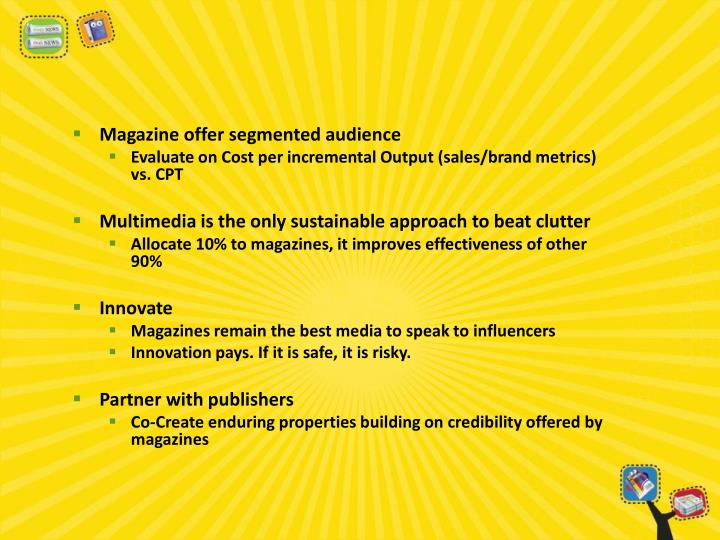 Magazine offer segmented audience