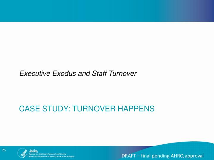 Executive Exodus and Staff Turnover