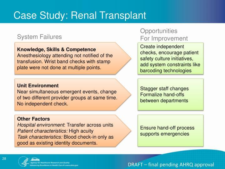 Case Study: Renal Transplant