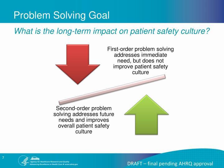 Problem Solving Goal