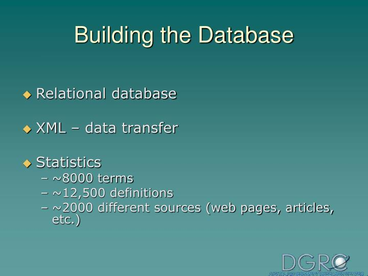 Building the Database