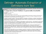 definder automatic extraction of definitions from text