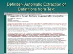 definder automatic extraction of definitions from text1
