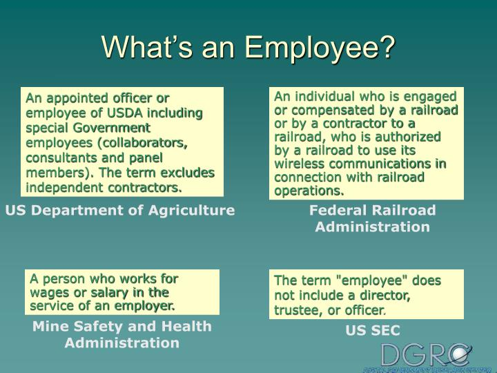 What's an Employee?