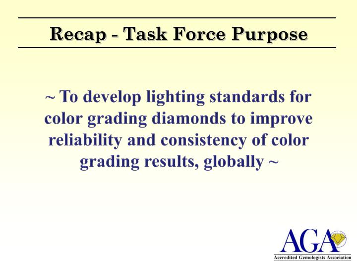 Recap task force purpose