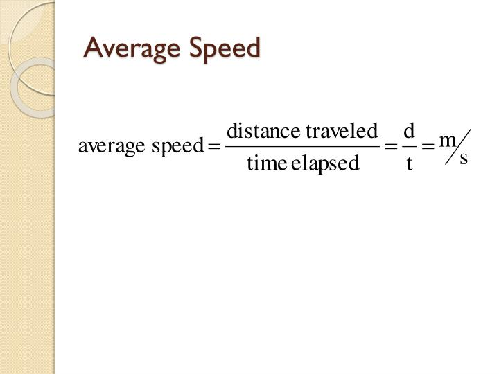 Average speed