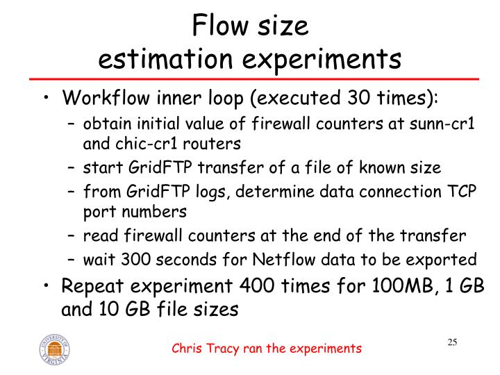 Flow size