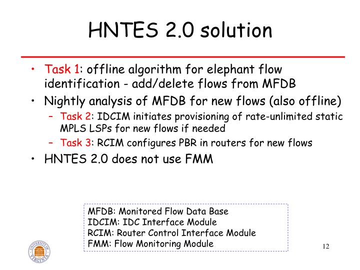HNTES 2.0 solution