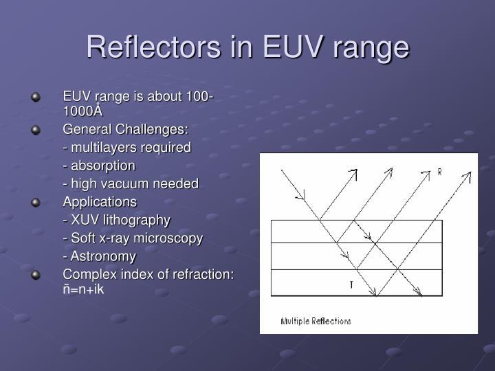 Reflectors in EUV range
