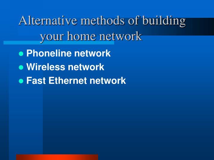 Phoneline network