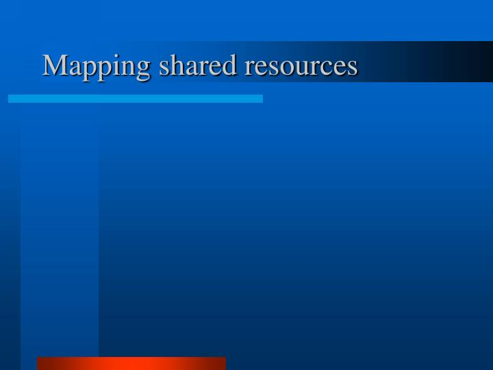 Mapping shared resources