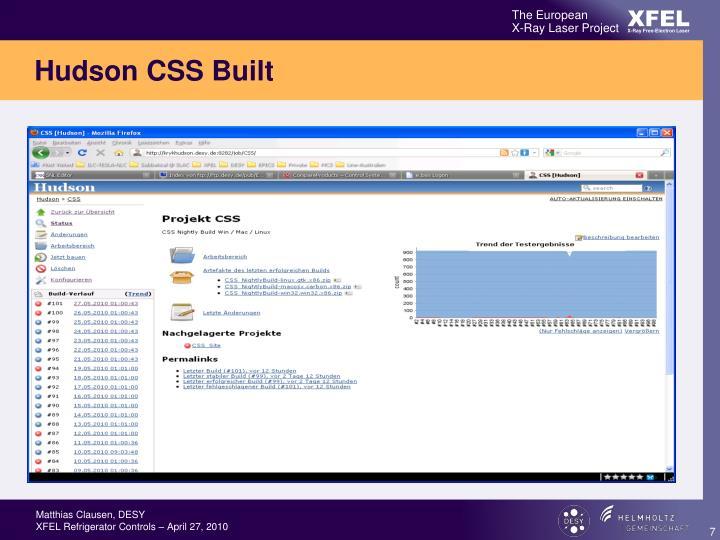 Hudson CSS Built