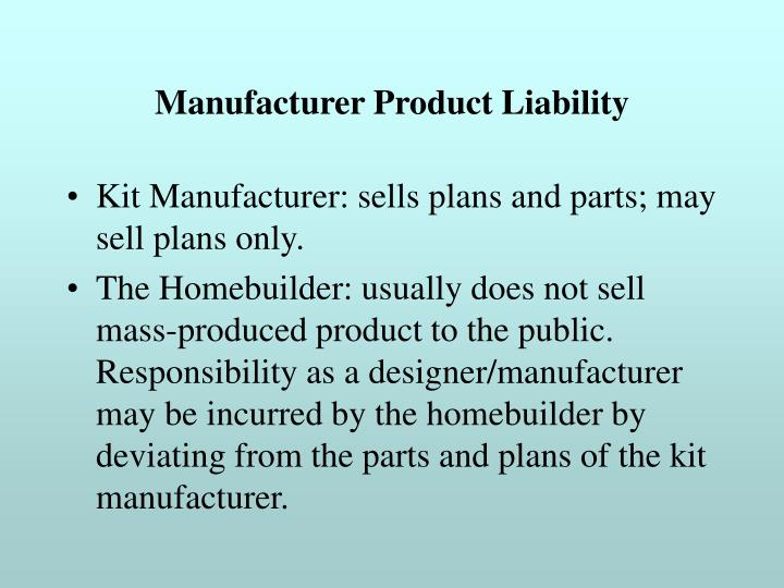 Manufacturer Product Liability