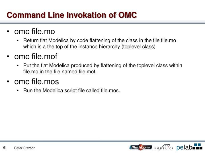 Command Line Invokation of OMC
