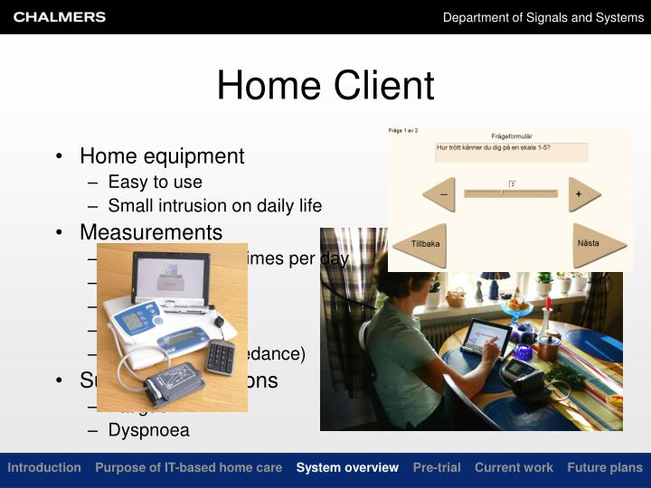 Home equipment