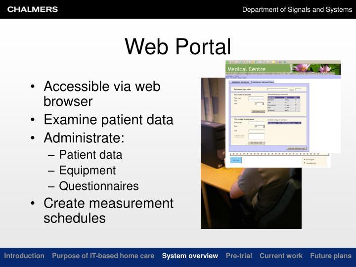 Accessible via web