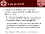 policy questions