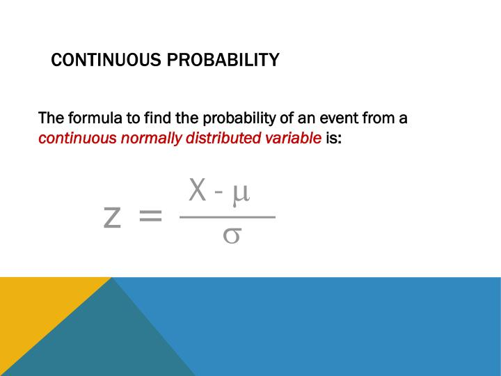 Continuous Probability