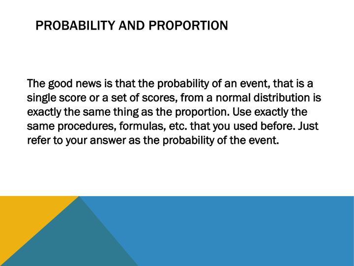 Probability and Proportion