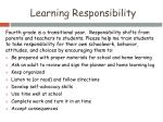 learning responsibility
