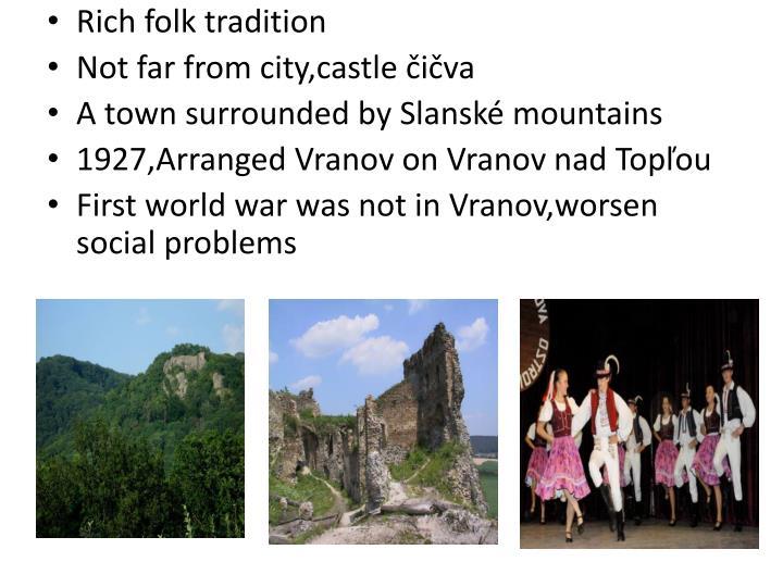 Rich folk tradition