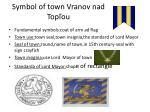 symbol of town vranov nad top ou