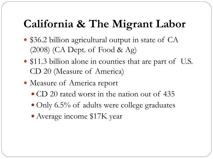 California & The Migrant Labor