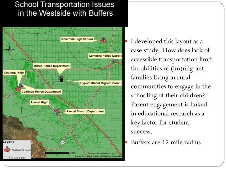 I developed this layout as a case study.  How does lack of accessible transportation limit the abilities of (