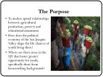 the purpose